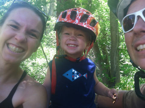 Our family riding City Creek Canyon in SLC, UT