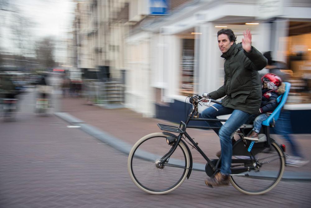 Dad Biking with Kid