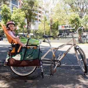 Biking with the Yepp Maxi