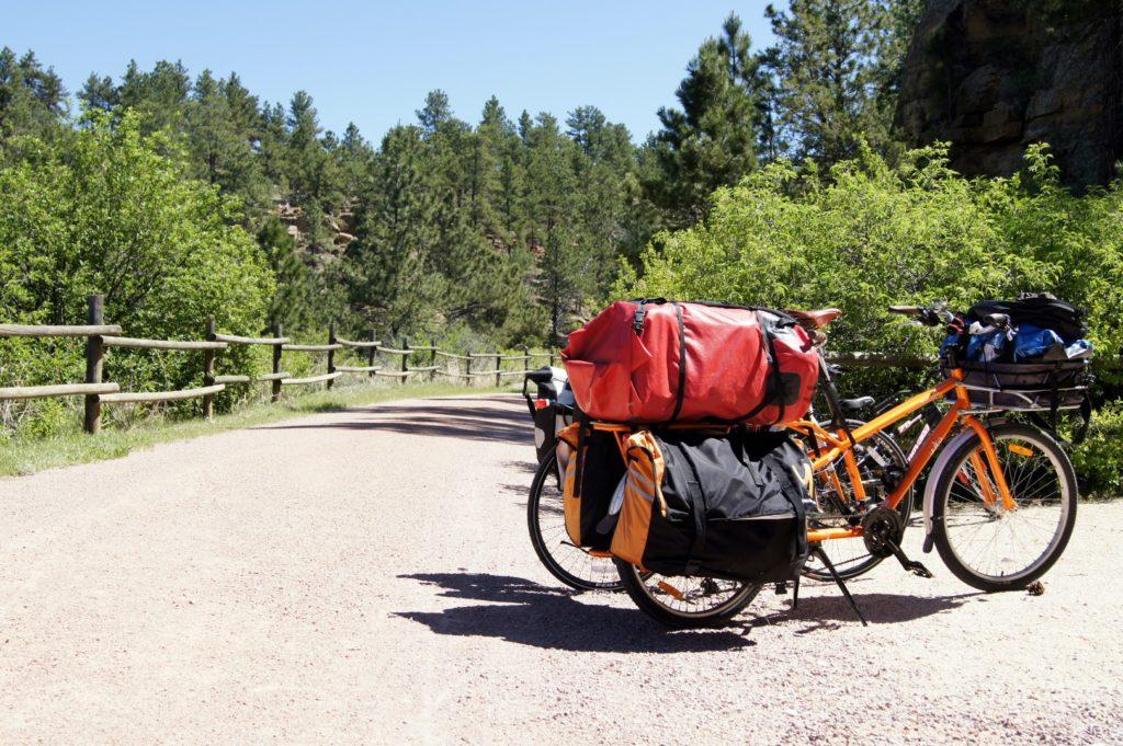Yuba Mundo set up for family bikepacking