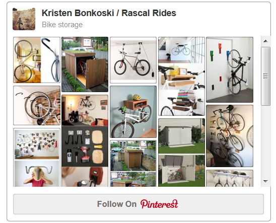 Bike Storage Board on Pinterest
