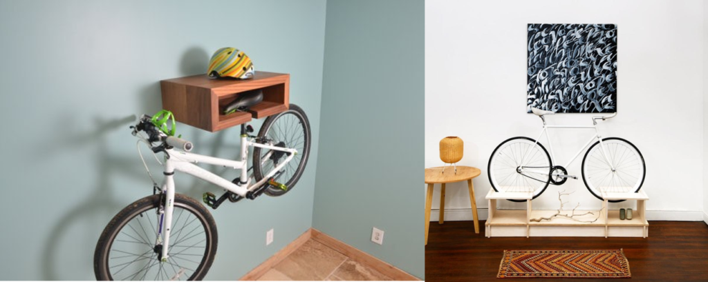 Decorative bike storage