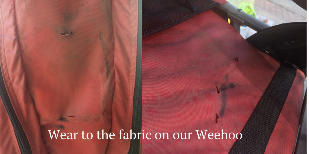 Wear to the fabric on our Weehoo