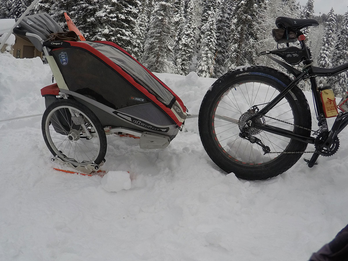 Chariot Trailer with Polar Stroller Skis
