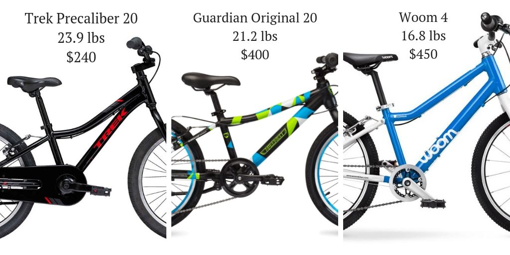 Guardian 20 inch kids bike weight