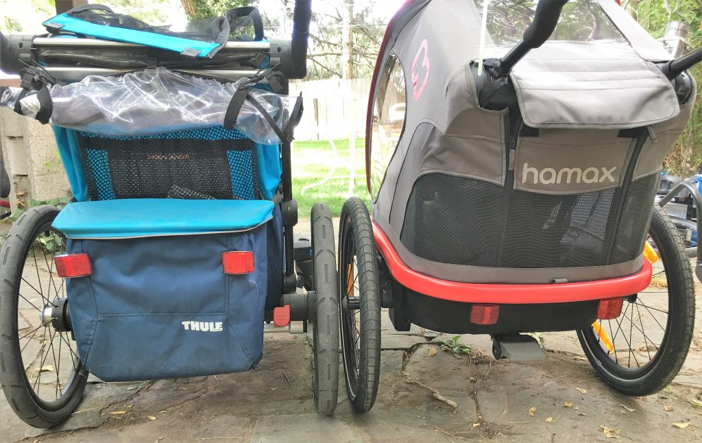 Rear of the Thule Chariot vs Hamax Outback