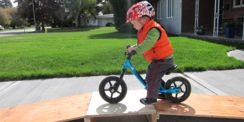 Balance Bike On A Ramp
