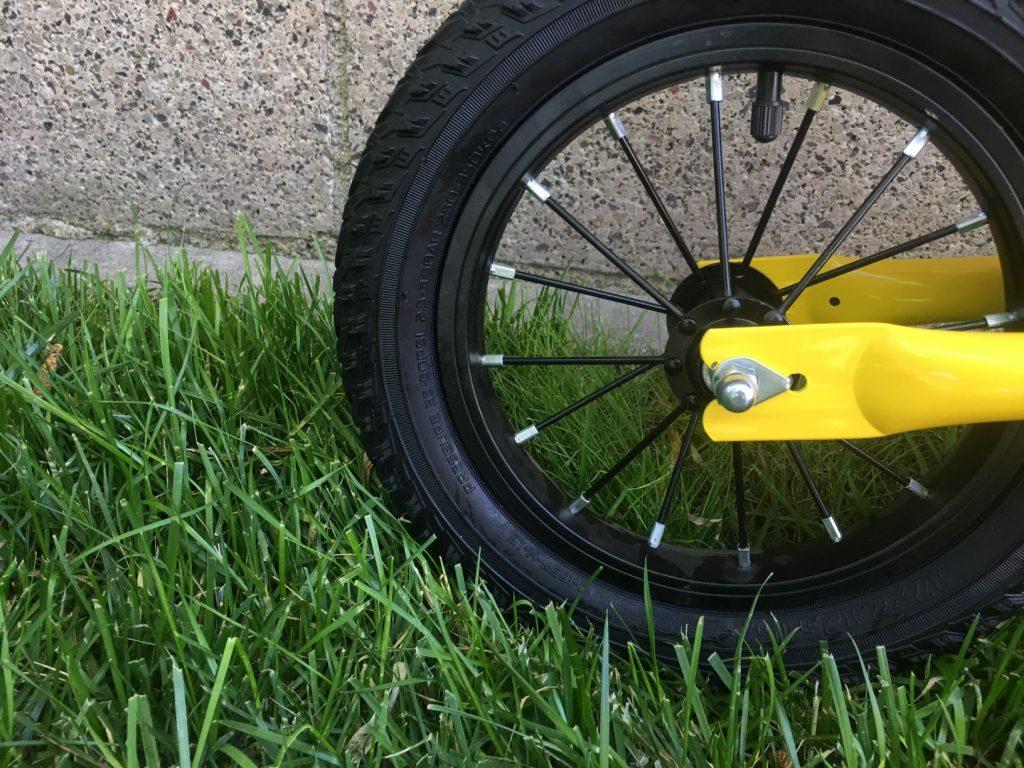 banana balance bike exposed bolts