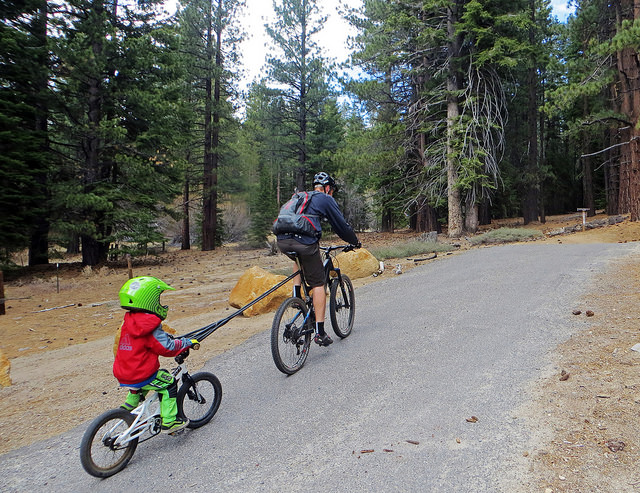 bike tube towing system