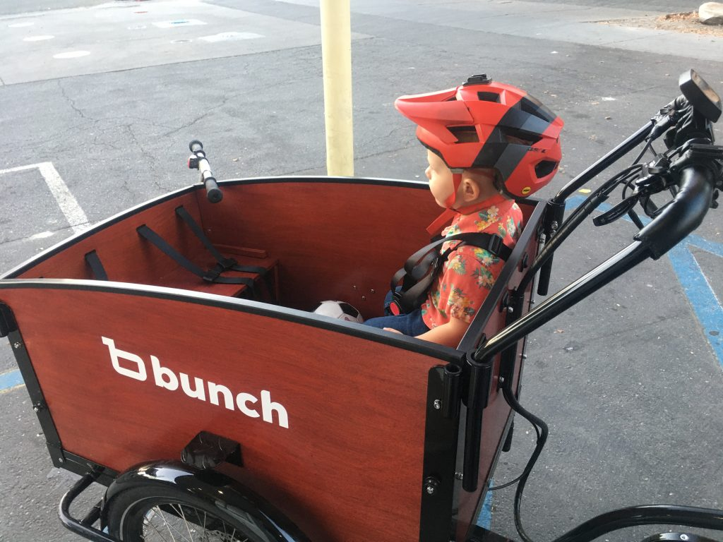child in the bunch bike