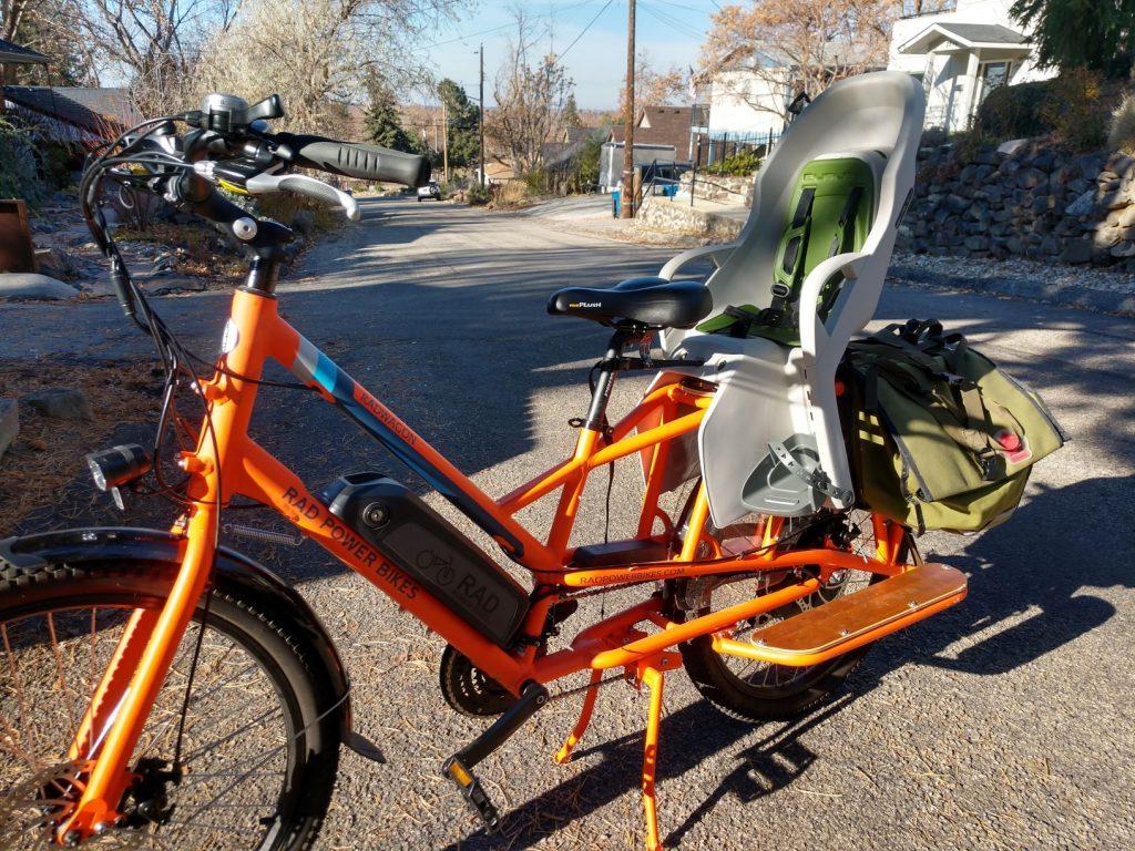 dash mounted on longtail cargo bike