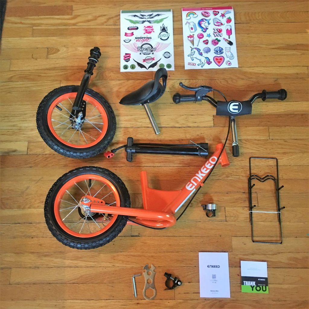 enkeeo balance bike assembly