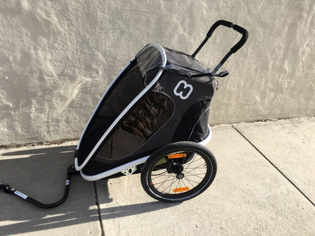 hamax outback double bike trailer