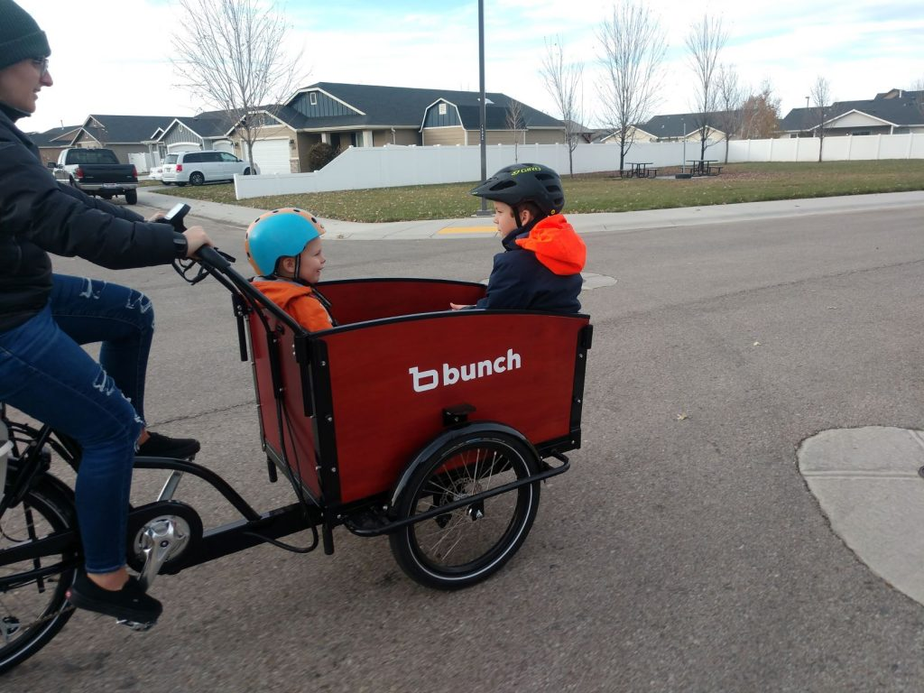 kids on bunch bike