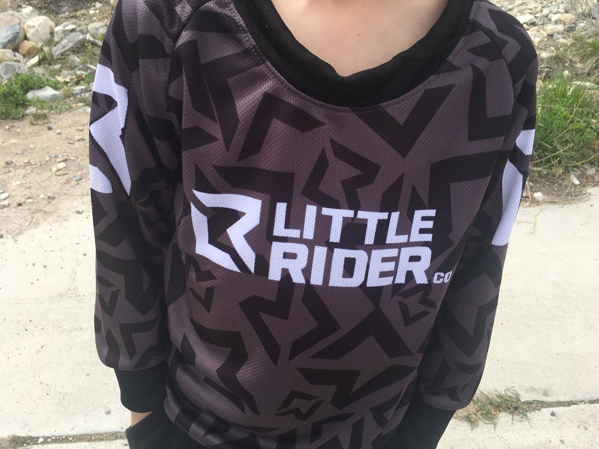 Little Rider Co Balance Series Jersey /'DARTH BLACK/' Childrens bike jersey