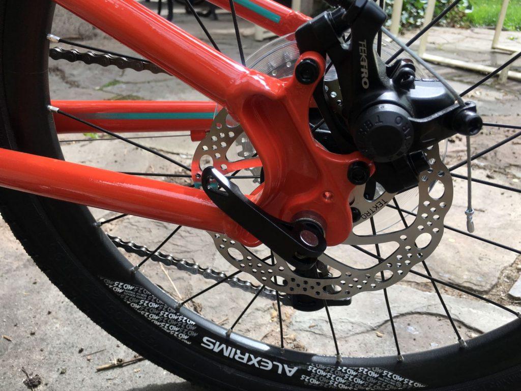 pello rover tektro disc brakes