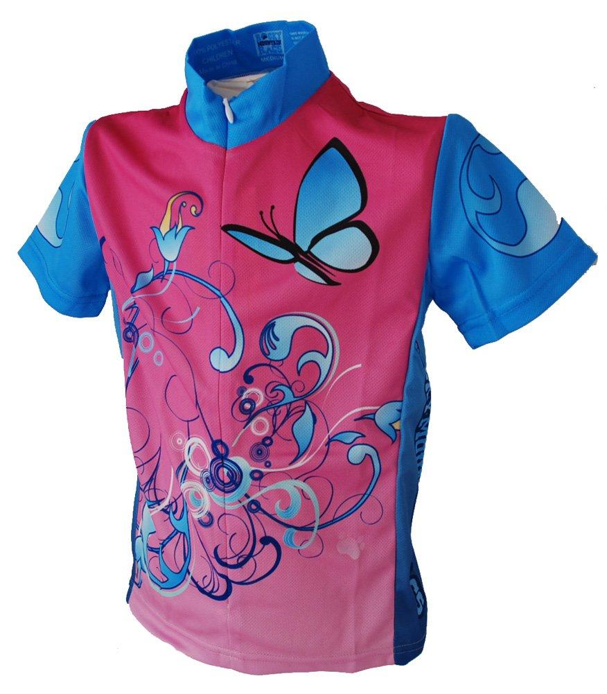 rocky mountain rags kids cycling jersey blue flower