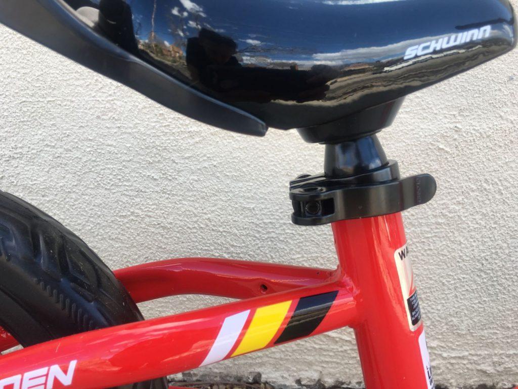 schwinn balance bike quick release seatpost collar